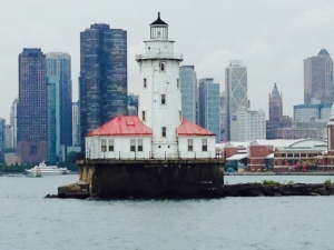 The iconic lighthouse marking the entrance to the harbor