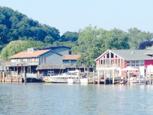 A portion of the riverfront in Saugatuck