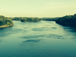 The Illinois River, taken from the bridge in Ottawa