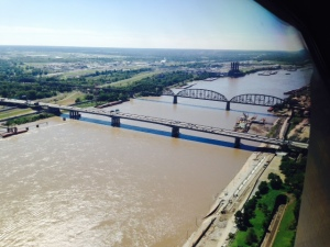 The Big Muddy as seen from the top of the Gateway Arch