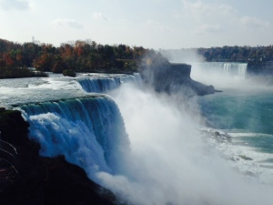 On Saturday, we all piled into the RV and went to Niagara Falls, about an hour from my Dad's house