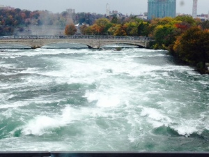 The rapids at the top of the Falls - the current is over 30 knots - nothing compared to the Mississippi!