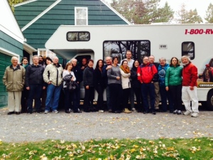 One final group picture as we piled back into the RV on Sunday morning and headed back to Boston