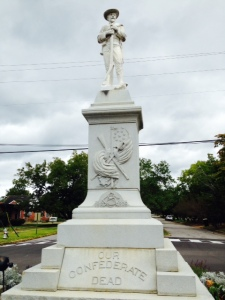 Evidence of the Confederacy abound - here is a statue honoring the Confederate Dead, located in Confederate Park in Demopolis