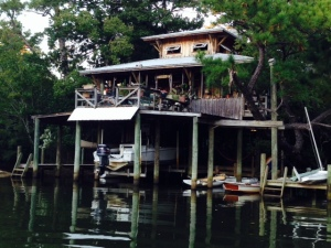 A cool house along the Fly River in Fairhope