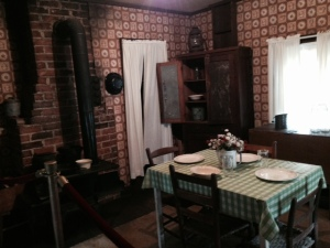 The kitchen/dining room of the Elvis house