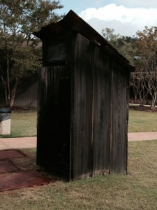 When I saw this outhouse on the grounds of the Elvis birthplace museum, I thought it was a bit over the top.  However, the museum used the replica outhouse to show one aspect of life growing up very poor in a very poor neighborhood, explaining that often multiple families shared a single outhouse like this one. Also, in keeping with the theme of this post, I'm guessing that they didn't have to deal with a clogged toilet...