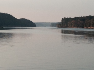 Heading south on the Tenn-Tom, the river narrows, and eventually transitions into a 25 mile man-made canal