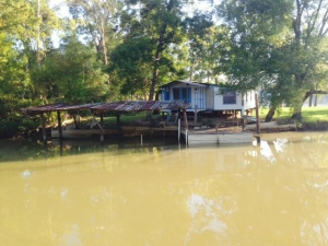 A shanty along the bank of the Black Warrior - Tombigbee Waterway