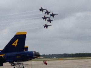 This picture was taken at an earlier time by my daughter Jessie - she's serving in the Navy JAG Corp, and is working on several legal issues involving the Blue Angels - as a result, she comes to Pensacola from her home base in San Diego regularly and gets to see the Blue Angels fly
