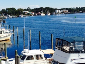 Carrabelle has a large, deep natural harbor