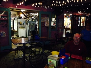 Looking inward toward the kitchen at Bayou Joe's