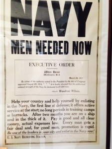 An interesting recruiting Navy poster from World War I