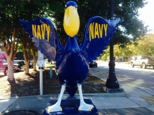 The Navy, not surprisingly, has a major presence in Pensacola, although we saw few people in uniform in the downtown area