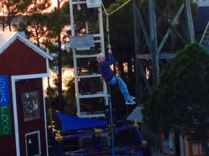 Jake, making his zip line debut -