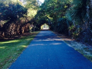 There is now a 16 mile long bike path where the railroad used to run in 1843