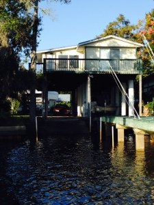"A ""typical"" house on a canal in Suwannee"