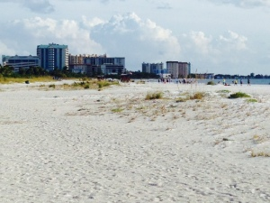 The wide beach at Sarasota is spectacular, with fine white sugar-like sand
