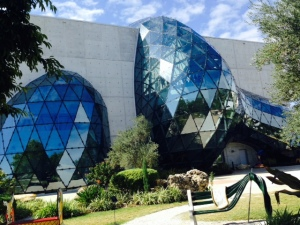 The famous Dali Museum, exhibiting the works of Salvatore Dali, a Spanish artist whose career spanned a series of different styles as his works evolved. The museum building is stunning and the artwork fascinating, even to an art neophyte like me