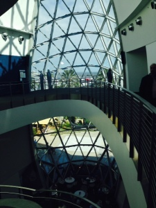 The atrium of the Dali Museum