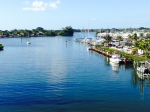 The marina where we stayed in Venice is directly on the Gulf Intracoastal Waterway