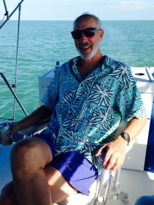 "Paul broke out his ""keys wardrobe"" on the boat in anticipation of arriving in Marathon on Boot Key."