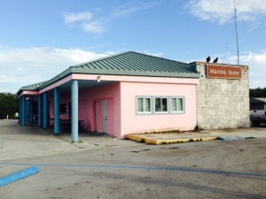 "The modest but sturdy store in Flamingo - one of the two buildings that make up the ""town""."