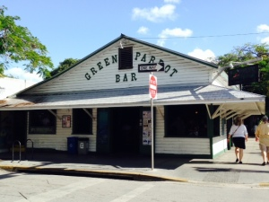 "We couldn't resist visiting the fifth ""Dive Bar"" listed in the magazine article, since it is on Key West - the Green Parrot. It lived up to its image..."