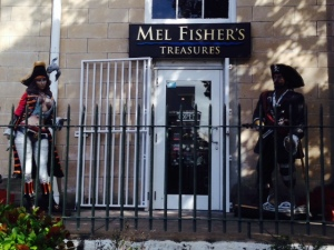 Mel Fischer was a famous treasure hunter who, after searching for 17 years, finally found the remains of a Spanish ship sunk in 1622 by a hurricane. The recovered treasure is valued at half a billion dollars, the loss of which at the time nearly caused the collapse of the heavily indebted Spanish government. The Mel Fischer museum in Key West is fascinating, featuring displays and artifacts from the ship, including solid gold chains, silver bullions, and a multitude of silver coins, plus extensive displays and artifacts from the many pirates who plied the waters of the Keys, Cuba, and the Bahamas.