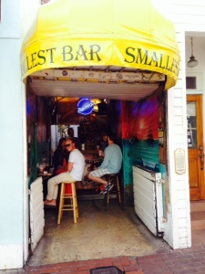"There are bars and bands of all sizes, shapes, and sounds throughout the ""downtown"" Key West area, but this was by far the smallest, as its sign suggests - about 8 feet wide and 12 feet deep."