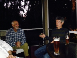 Before dinner, Walter took us to his home for some pre-dinner cocktails. Here's Walter telling one of his many interesting and often humorous stories.