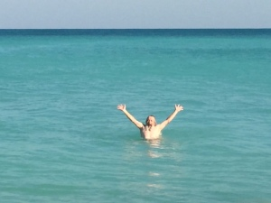 I couldn't resist a swim in the turquois water -