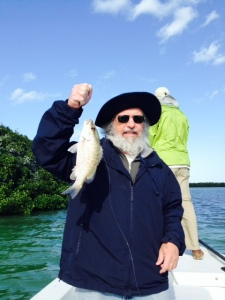 This fish is called is a Jack - we caught one of these in addition to the Mangrove Snapper