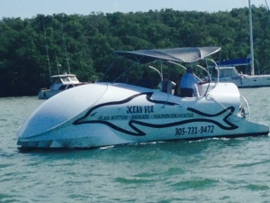 Another strange looking boat, this one in Key Largo