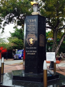 This is a monument to those who lost their lives in the disastrous Bay of Pigs invasion in 1961.  Older Cubans still fault America for the alleged failure to provide promised air support that was expected to help the overthrow of Castro to succeed.