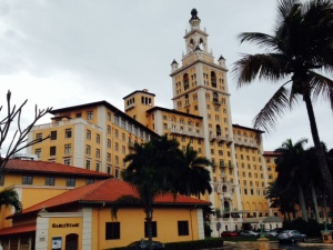 The Biltmore Hotel in Coral Gables was built in 1926 to cater to wealthy northerners during the winter months. The War Department took it over during World War 2 and converted it to a hospital, covering the original marble floors with government-issued linoleum. After the war, it was used as a VA hospital and campus of the University of Miami Medical School until 1968. After extensive renovations and restoration of its original finishes, it was again converted to a hotel, opening in 1987.