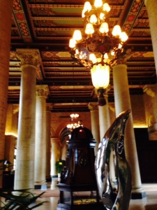 The interior of the Biltmore hotel is spectacular -