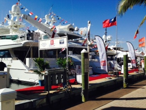 A hundred or more megayachts for sale at the Miami Boat Show