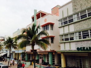 Much of the architecture in Miami Beach is art deco - Ocean Avenue is lined with restaurants, bars, and clubs.