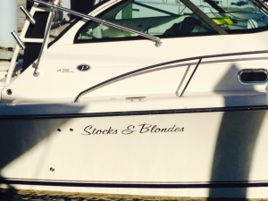 An interesting name for a boat - not sure what this guy does for a living - does he have two professions?