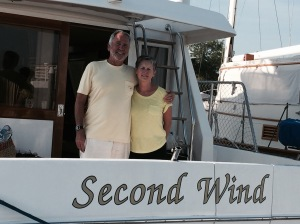 In FT. Pierce, I finally met Mark & allyn Callahan on Second Wind.  Mark is a member of the Charles River Yacht Club where we keep the Joint Adventure - we had never met, but Mark & Allyn have been following the blog since the start of our trip - they did the Great Loop a few years ago and are in the process of bringing Second Wind from Florida to the Chesapeake for the summer. We've since seen each other at several ports and  continue to stay in touch.