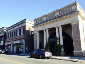 Buildings along Main Street in downtown Beaufort -
