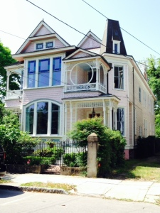 """This house is not historic, but has been dubbed the """"Barbi house"""" by the tour guides"""