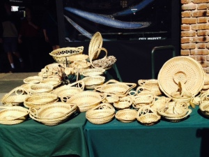 Hand woven baskets made from local plants can be found throughout the markets. Some take hundreds of hours to make and can cost up to a thousand dollars.