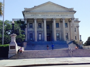 The U. S Customs House, built in 1853