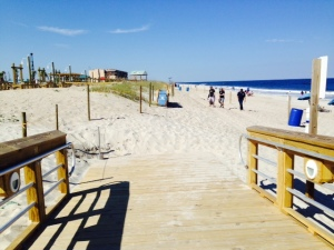 The beach as seen from the new boardwalk -