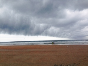 A cool cloud overhanging the beach -