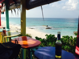"The famous bar high on the dunes overlooking the reefs and the ocean is named Nippers - the local name for bugs that we call ""no-see=ums"".  The view is spectacular, as is the beach below"