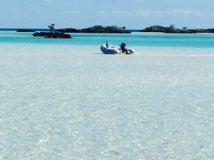 Sandy Cay, with some rock/coral islands in the background