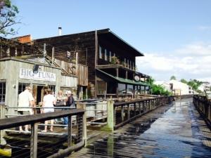 The riverfront boardwalk in Georgetown
